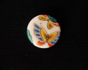 九谷焼帯留 彩華